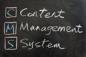 CMS,Content management system — Stock Photo