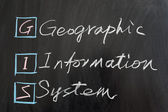 GIS, Geographic Information System — Stock Photo