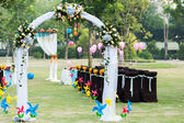 Wedding flower arch — Stock Photo