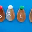 Stock Photo: Sale word