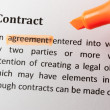 Contract — Stock Photo