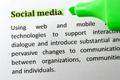 Social media — Foto Stock