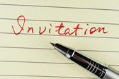 Invitation word — Stock Photo