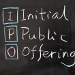 IPO - Initial public offering — Stock Photo