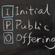 IPO - Initial public offering — Stock Photo #22228901