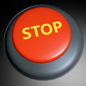 Stop 3D button — Stock Photo
