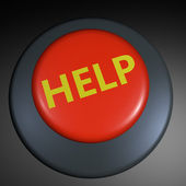 """Help"" 3D button — Stockfoto"