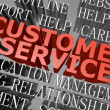 Customer service word cloud - Stock Photo