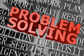 Problem solving word cloud — Stock Photo