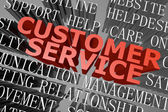 Customer service word cloud — Stock Photo