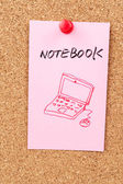 Notebook word and symbol — Stock Photo