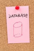Database word and symbol — Stock Photo