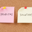Problems and solutions words — Stock Photo