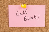 Call back — Stock Photo