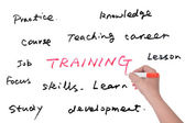 Training related words group — Stock Photo