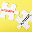 Stock Photo: Negative versus positive