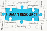 Human resource concept — Stock Photo