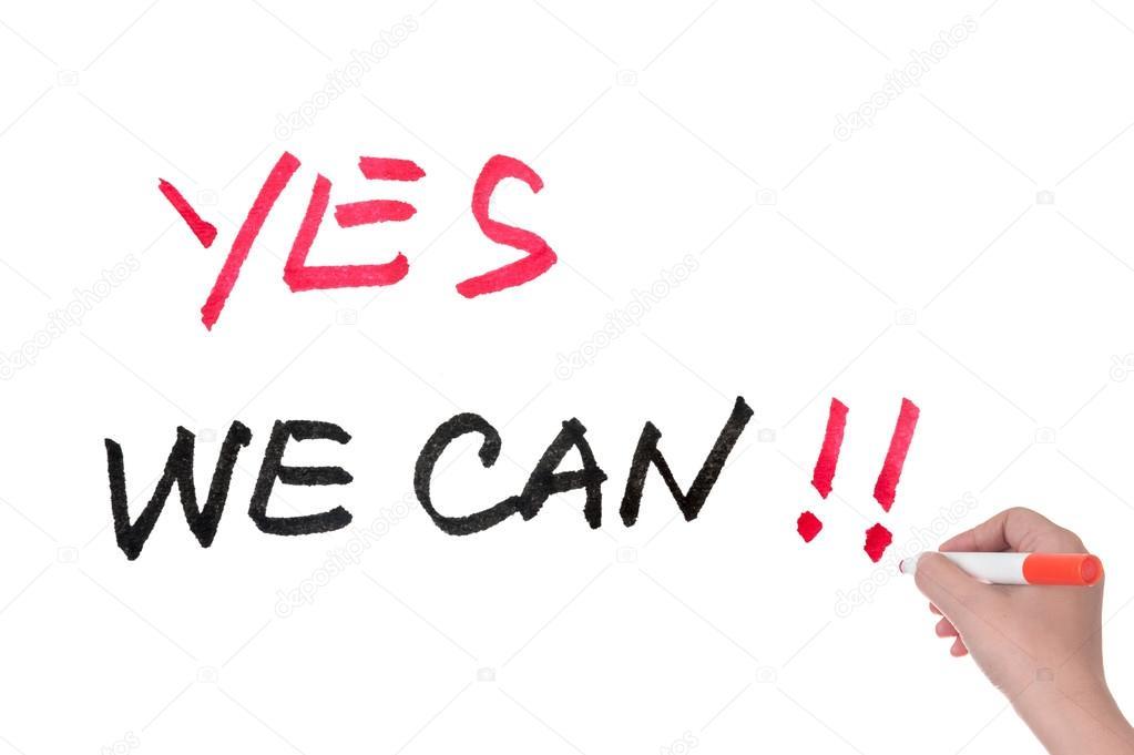 Ja dat kunnen we stockfoto raywoo 32971423 for Bett yes we can