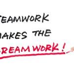 Teamwork makes the dreamwork — Stock Photo
