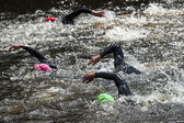 Swimming at triathlon — Stock Photo