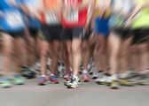 Zooming on runner shoes — Stock Photo