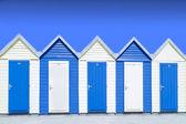 Blue beach hut — Stock Photo