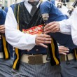 Breton bagpipe in panoramic — Stock Photo