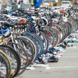 Stock Photo: Bicycle waiting at triathlon