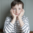 Little boy in striped shirt — Stock Photo #13831785