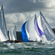 Stock Photo: Group yacht at regatta