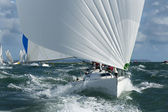Yacht racing in the swell — Stock Photo