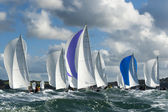 Group yacht at regatta — Stock Photo