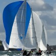 Skipper on yacht at regatta — Stock Photo