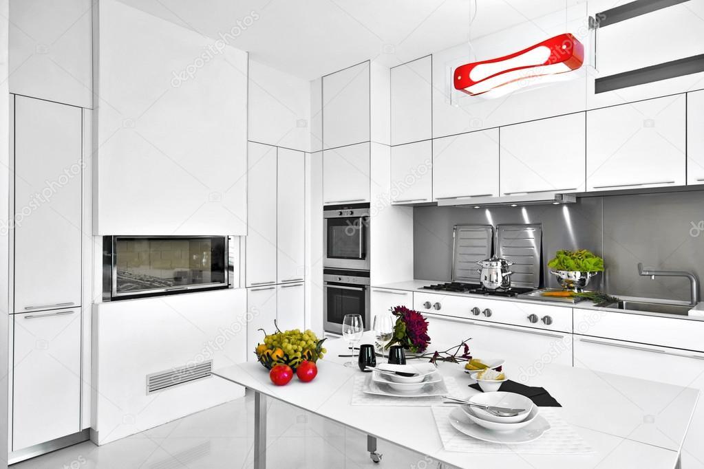 moderne witte laminaat keuken  stockfoto © aaphotograph, Meubels Ideeën