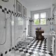 Stock Photo: Modern bathroom in black and white
