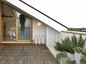Modern terrace — Stock Photo