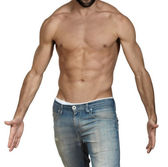 Muscular bare chested man — Stock Photo