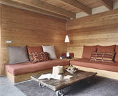 Rustic living room — Stock Photo