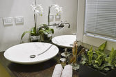 Detail of modern bathroom — Stock Photo