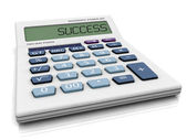 3D calculator with SUCCESS write in LCD panel. — Stock Photo