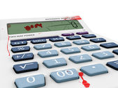 3D model calculator with blood and scratches on lcd. — Stock Photo
