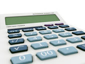 Very clouse up macro calculator 3d render. — Stock Photo