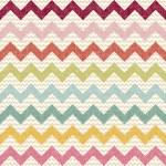 Seamless color chevron pattern on linen texture — Stock Vector