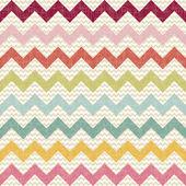リネン テクスチャのシームレスな色シェブロン パターン — ストックベクタ