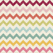 Seamless color chevron pattern on linen texture — Stock vektor