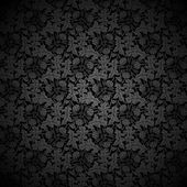 Black vector background Floral Pattern — Stock Vector