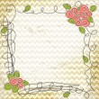 Royalty-Free Stock Vektorgrafik: Vector floral doodle frame