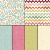 Vector seamless pattern. linen texture background — Stock Vector