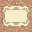 Vintage frame floral background — Stock Vector