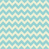 Vector Seamless chevron pattern on linen turquoise canvas background. — Stock Vector